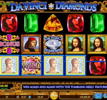 machine sous gratuite da vinci diamonds
